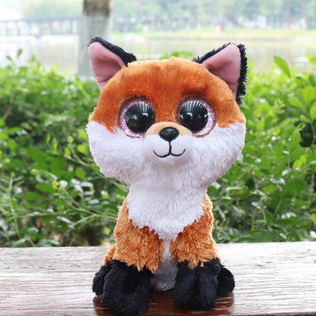 4c1d46a6a60 Ty Beanie Boos 6-Inch Slick Brown Fox Plush Beanie Baby Plush Stuffed Doll  Toy Collectible Soft Toys Big Eyes Plush Toys