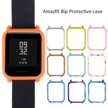 Watch Body Amazfit Bip Youth Sensible Watch Protector Case Slim Colourful Body PC Case Cowl Defend Shell For Xiaomi Huami