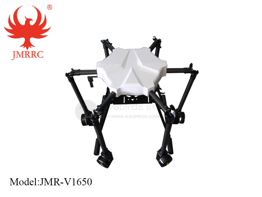 DIY JMR-V1650 15L Agricultural spraying hexacopter drone 1650mm annular folding pure carbon fiber frame kit eft diy 10l agriculture spray quadcopter drone 1300mm annular folding pure carbon fiber frame model a and model b