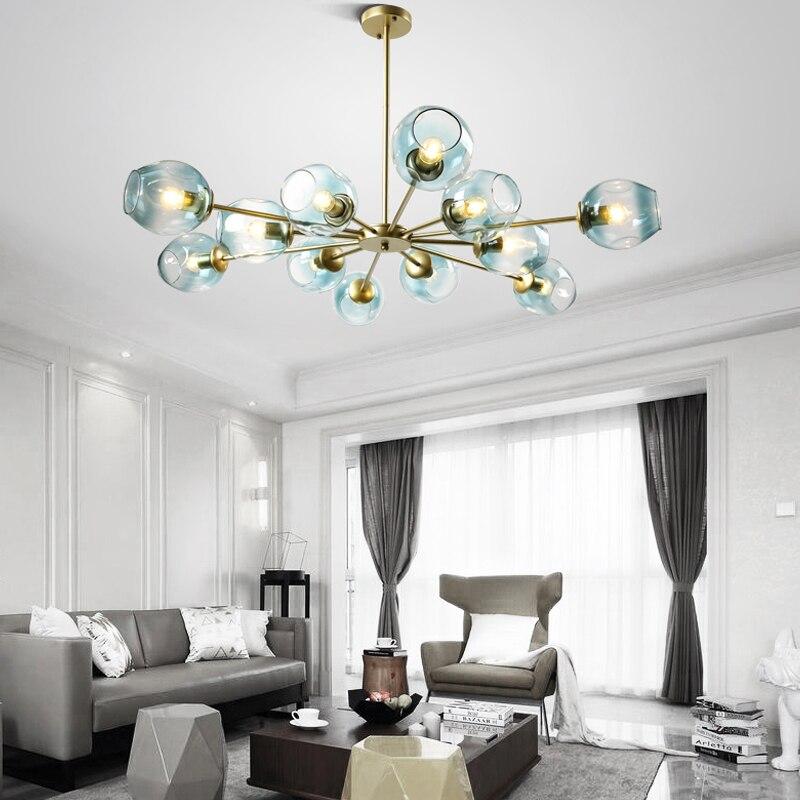 Loft Minimalist Pendant Chandelier The Beanstalk LED Retro Lamps Art Decoration Lights E27 Industrial Glass Light