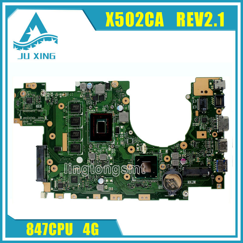 for ASUS X502CA Laptop Motherboard X402CA REV2.1 with 847cpu 4g Mainboard Fully tested v6j for asus vx1 laptop motherboard mainboard fully tested 100