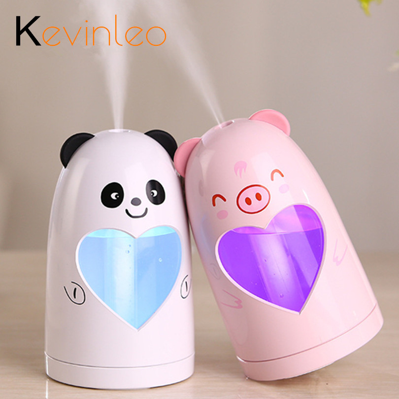 Humidifier Air Diffuse Animal Heart Design USB 5V Led Lamp Aromatherapy Mist Maker Essential Oil Diffuser for Home Office face humidifier 25ml 5v aromatherapy essential oil diffuse fragrance mist fog maker at home office