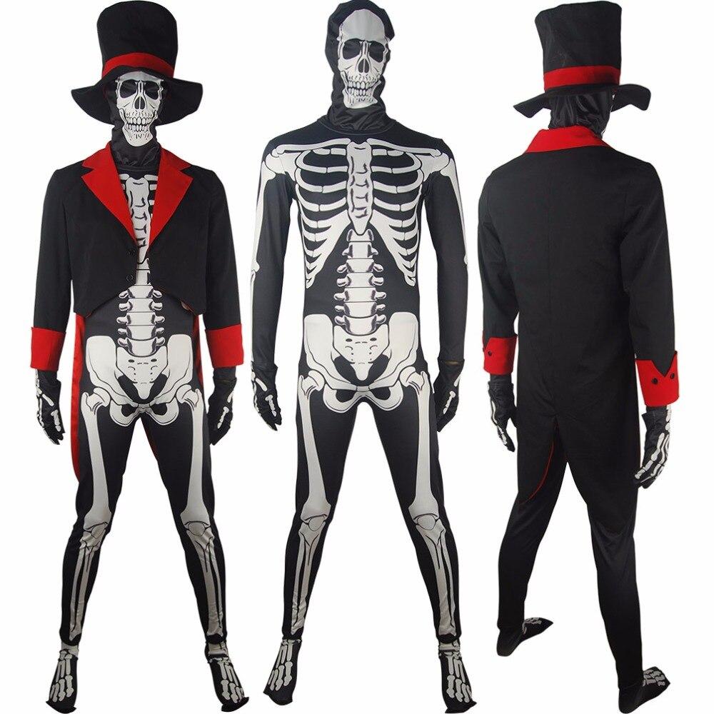 Popular Full Skeleton Costume-Buy Cheap Full Skeleton Costume lots ...