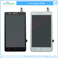 LCD Display For Lenovo A536 Touchscreen Panel Digitizer Accessories Assembly Replacement With Frame Track Number
