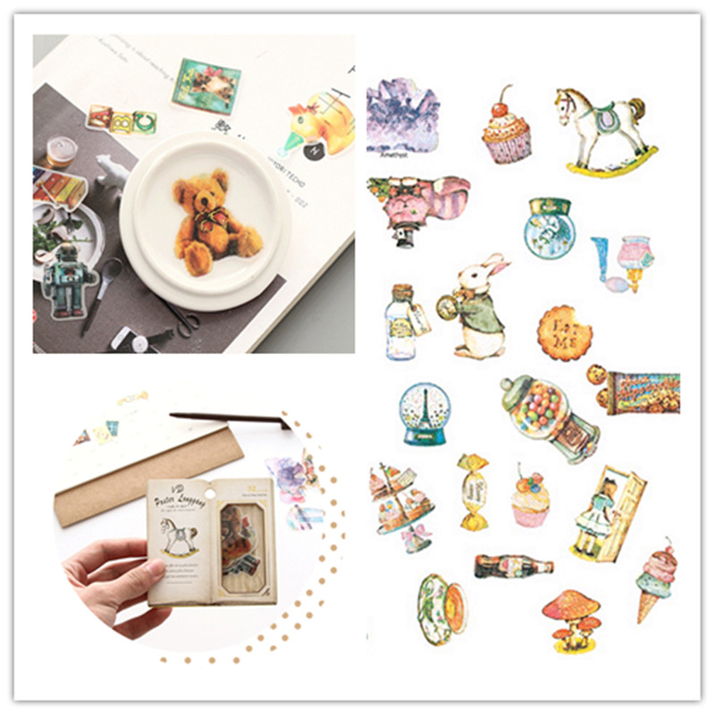 1pack/32pc Creative Retro Stationery Sticker Pack DIY Diary Magazine Scrapbooking Stickers Cute Decoration Journal Stickers