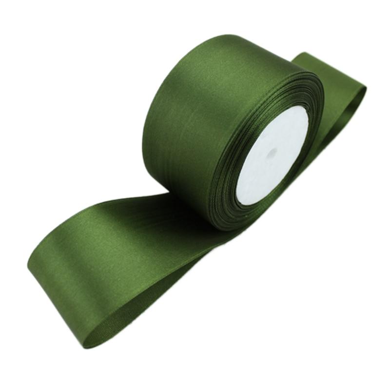 (25 ярдов/рулон) 2 »(50 мм) оливково-зеленый одного лица атласная лента лямки decorationgift Рождество лентами
