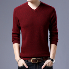 2017 winter warm thick sweater men brand 100% wool sweater O-Neck long sleeve soft knitted formal pullover