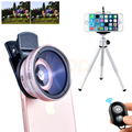 2017 HD 12.5X Macro Lenses 0.45X Wide Angle Lens For Xiaomi redmi note 3 iPhone 7 6 5 s Cell Phone Lentes Kit Mobile Tripod Clip