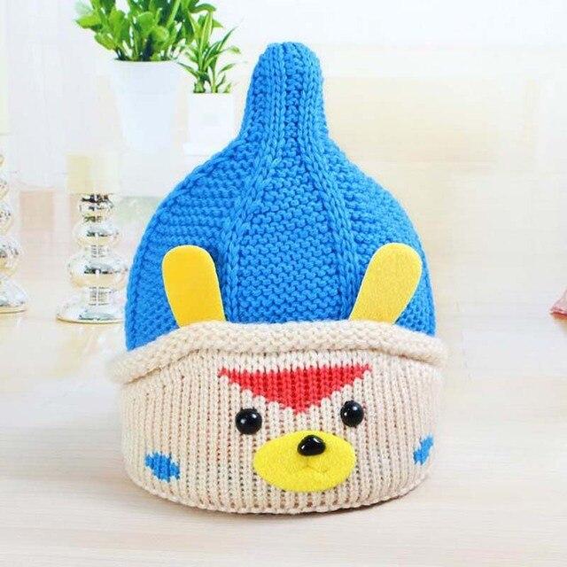 Children s woollen hat 46-48cm puppy pointy hat winter Polaris thermal knit  cap bf9889856ee