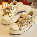 New 2017 Children Shoes Boys Canvas Shoes Gold & Silver Girls Leisure Sports Shoes Skate Board Kids Shoes Solid Kids Sneakers