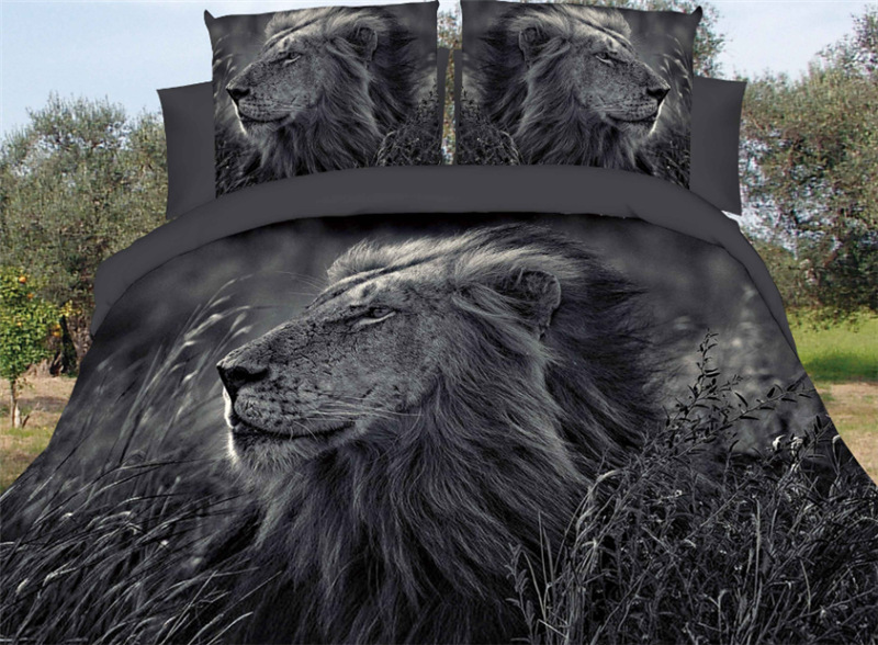 luxury winter wolf Lion bedding set 3d French dog bed coverlet-200*230cm dachshund Bedding article duvet cover22luxury winter wolf Lion bedding set 3d French dog bed coverlet-200*230cm dachshund Bedding article duvet cover22