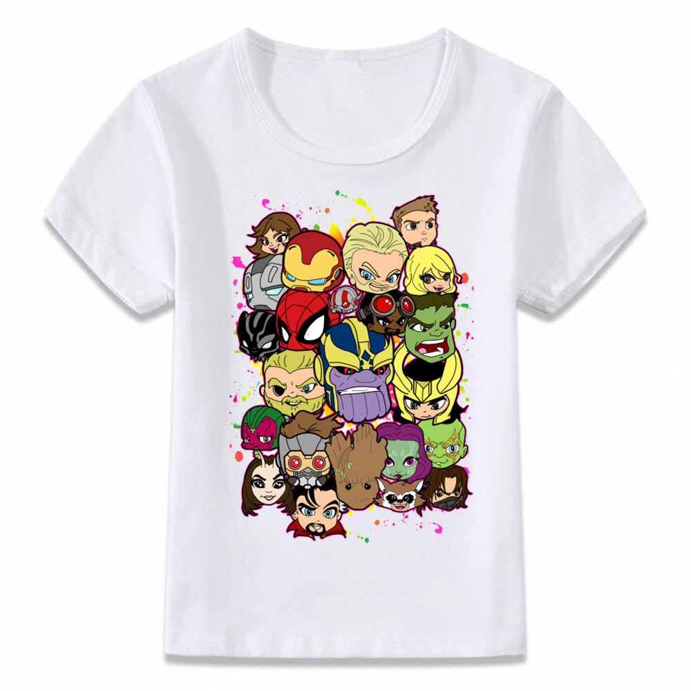 Kids Clothes T Shirt Avengers Infinity War Thanos Thor T-shirt Boys And Girls Toddler Tee Oal094