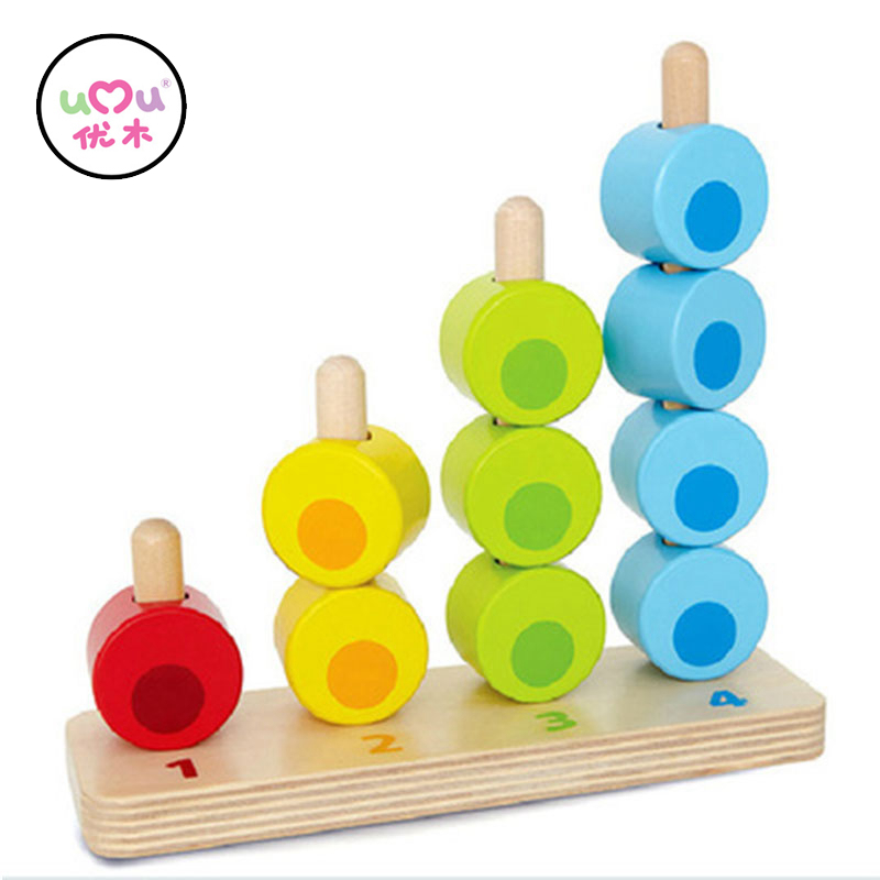 Wooden Montessori Learning font b Toys b font Counting Beads Baby Abacus Mathematics Preschool Training Materials