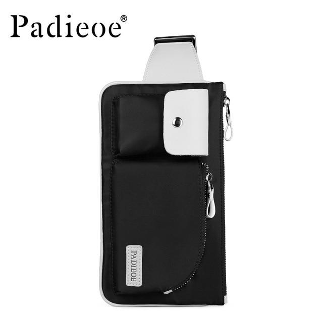 Padieoe hombres paquetes de la cintura nueva crossbody bolsa lienzo paquete de la cintura ocasional de moda de alta calidad unisex bolso de la cintura bolso de la correa de la cintura bolsa