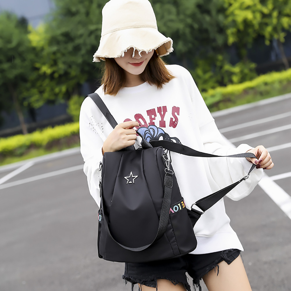 HTB1qr bMbPpK1RjSZFFq6y5PpXap Masion Fabre Shoulder Bag Anti-theft Backpack Bag Personality Wild Oxford Cloth Small Backpack Bags For Women Mochila Feminina