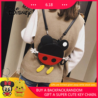 2019 Disney Backpack Mickey Mouse Women Bags Cute Round Mickey Minnie Fashion Girl Shoulder Messenger Outing Bag Best Gifts