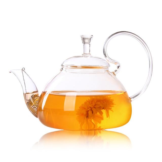 1 PC 250 ML 600 ML 750 ML 1200 ML de café de vidrio té flor chino Teteras de vidrio de resistente al calor de té de vidrio ollas JN 1011