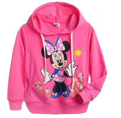Nuevo Mickey de la Historieta del bebé cabritos del vestido Del Resorte Del Otoño niños niñas Camisetas de Manga Larga Con Capucha sudaderas con capucha para niños