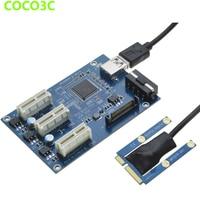 Mini PCIe 1 to 3 PCI express 1X slots Riser Card Expansion adapter Mini ATX Laptop to PCI e Port Multiplier