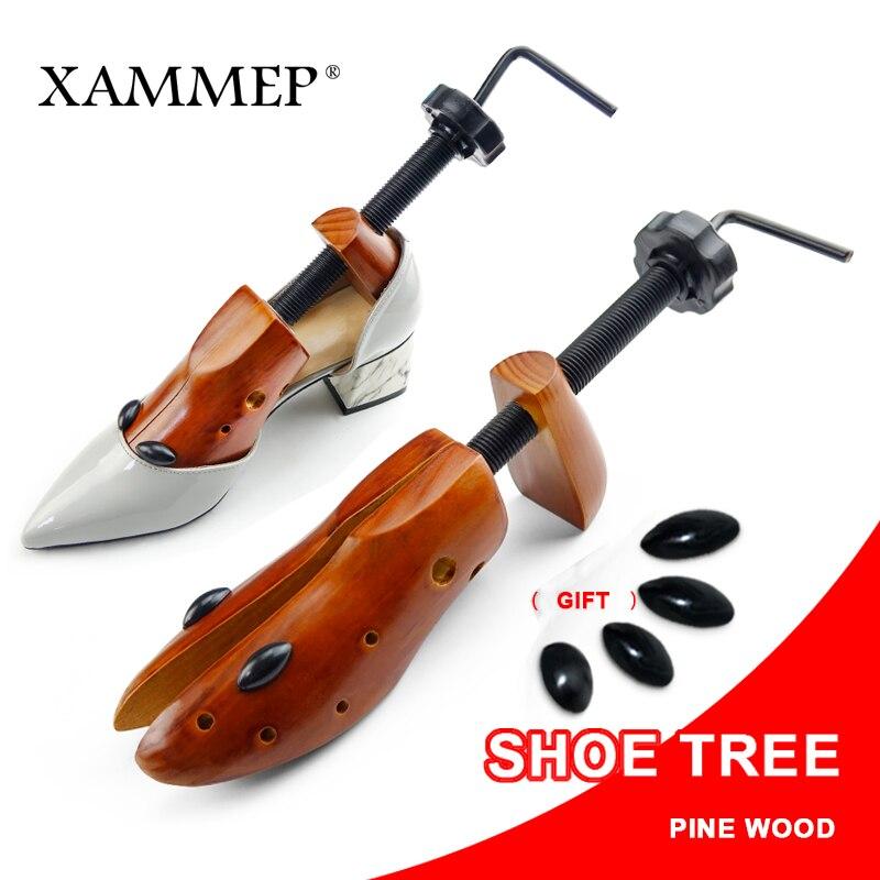Обуви дерево деревянный для Для мужчин и женская обувь Expander обувь Ширина и регулируемые по высоте Чистка Носилки Shaper стойки 1 пара Xammep ...