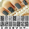 10pcs/lot Fashion DIY Polish Beauty Nail Art Image Stamp Stamping Plates Lace Flower Polish Manicure Tool 16Designs  for Choice