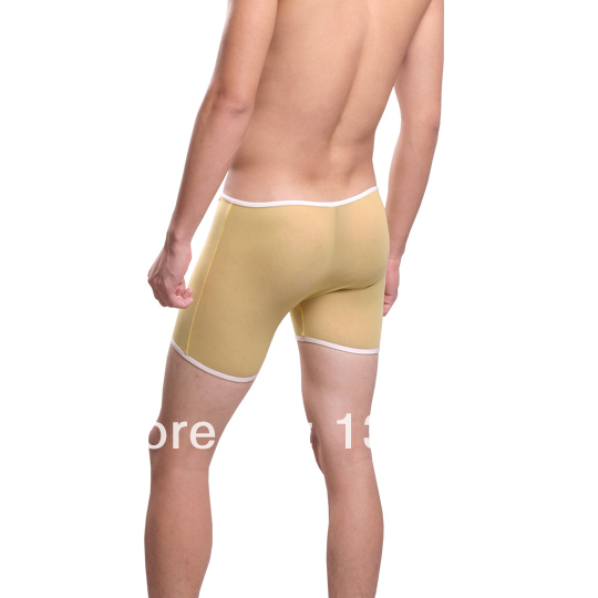 Male sexy boxer panties gauze transparent sexy gay ultra-low-waisted four angle panties underpants boxer men underwear