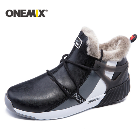 ONEMIX winter men running shoes men warm snow boots outdoor sport shoes women plush lining warm trekking shoes men sneakers men Islamabad