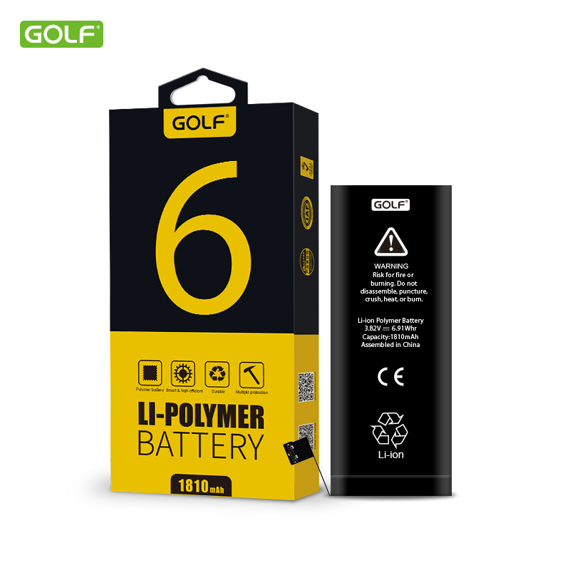 ( For iPhone 6 ) GOLF 1810mAh High Quality Built-In Phone Battery with Machine Tools Kit