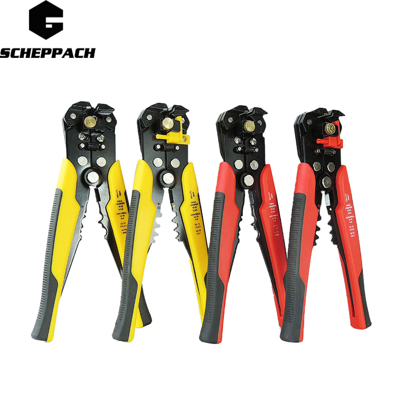 SCHEPPACH Tool 3 in 1 Self Adjustable Automatic Cable Wire Stripper Crimping Plier Crimper Terminal Cutter Tool  AT2203 3 in 1 multi tool automatic adjustable crimping tool cable wire stripper cutter peeling pliers repair hand tools diagnostic tool