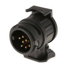 13 pin to 7 pin Short Towing Wiring Socket Plug Adaptor Black Allows Tow almost any trailer стоимость