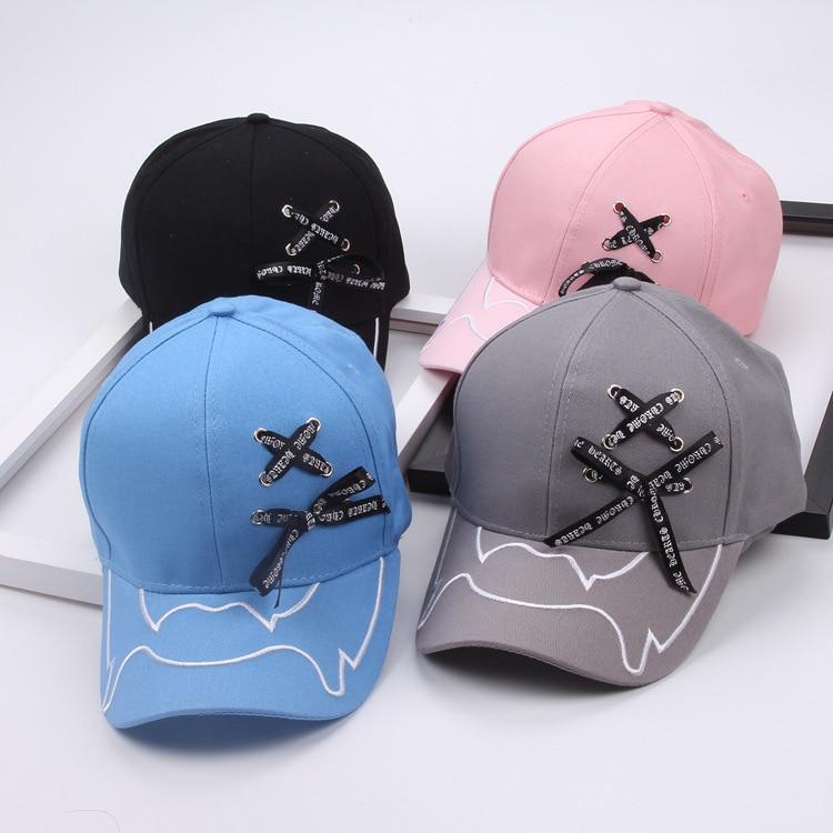 2d72c5e71111 Gorra de béisbol con lazo grande para hombre, sombrero para mujer, gorras  de béisbol, vendas para papá, gorras de Hip Hop de moda para chicas y ...