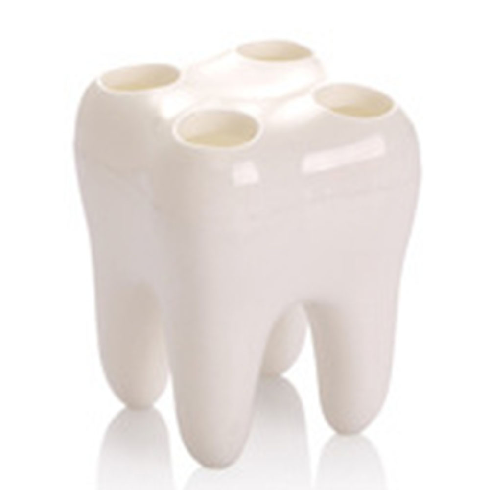 Shelf PS Cute Rack Bathroom Accessories Sets Toothbrush Holder Tooth Shape Stylish Shaving Razor Cartoon Contaniner 4 Holes