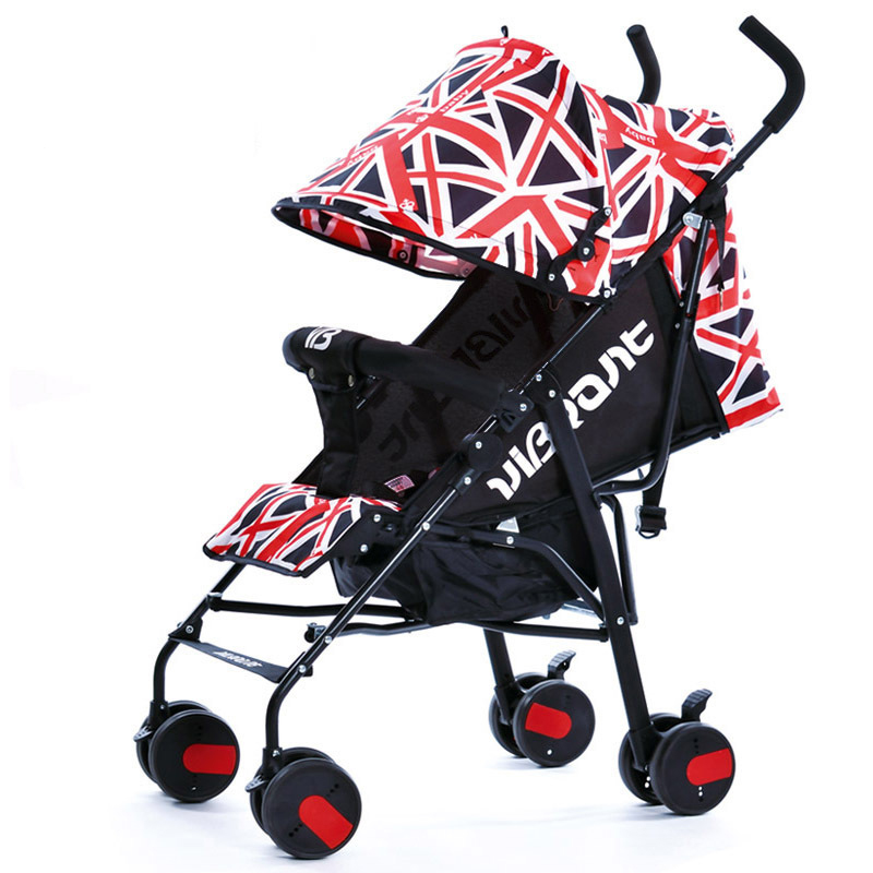Portable baby stroller sit lying folding four wheel cart Summer easy Carry Kinderwagen Light Umbrella Stroller bebek arabasi baby stroller babyruler ultra light portable four wheel shock absorbers child summer folding umbrella cart