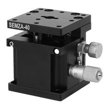 цена на 40*40*40mm linear guide SEMZA-40 Trimming Platform Slide Table Fine Tuning Bearing Vertical Linear Stage geleiderail