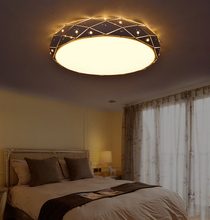 Diamond ceiling lamp iron metal LED flush mount ceiling light luminaria led teto abajur para sala plafonnier led telecommande