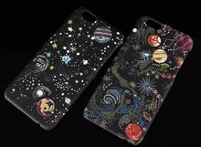Hot selling beautiful Plastic Magic Universe Planet Phone Case Cover for iPhone 6 6s 6s plus 7 7 plus hard case,Free Shipping