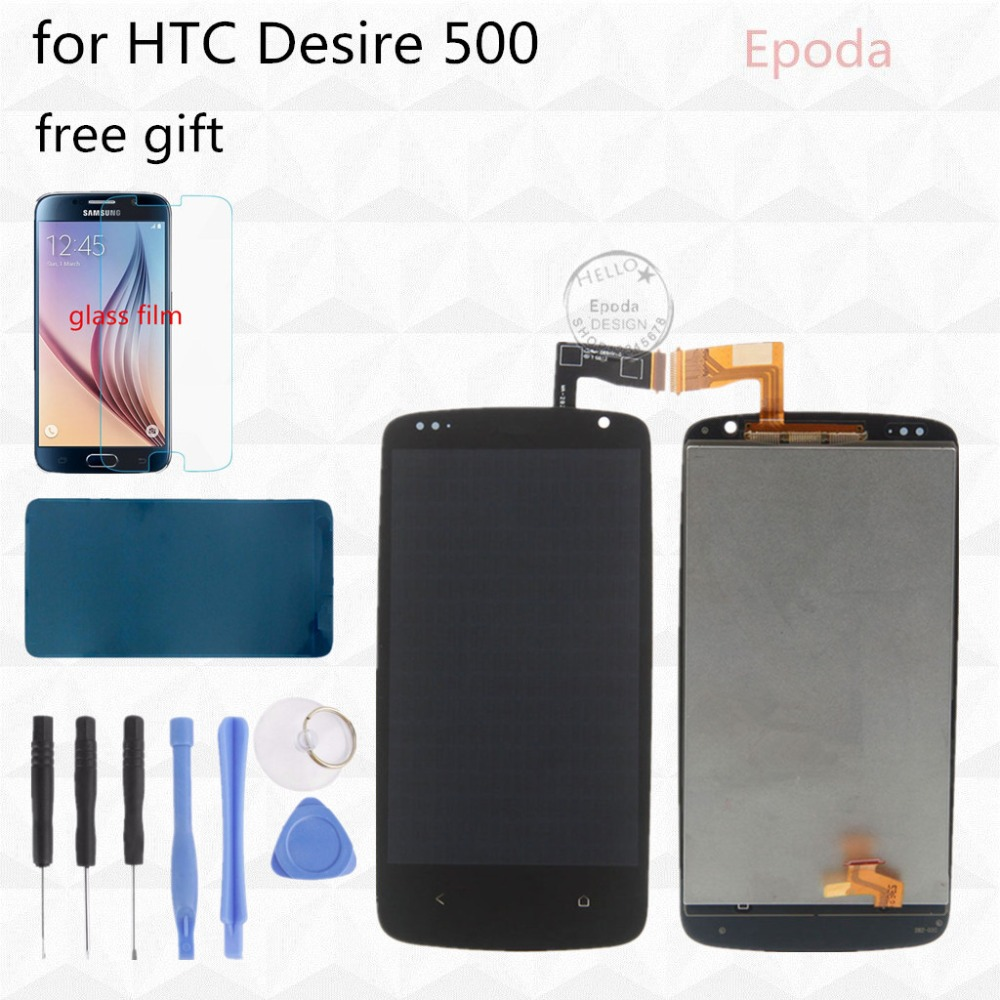 100 Test For HTC Desire 500 LCD Display Screen with Touch Screen Digitizer Assembly Black With