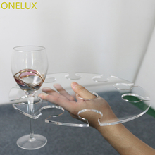 (2PCS/LOT) Acrylic Champagne Flute Suspension Serving Tray - 310 x 310mm To Hold 10 Glasses