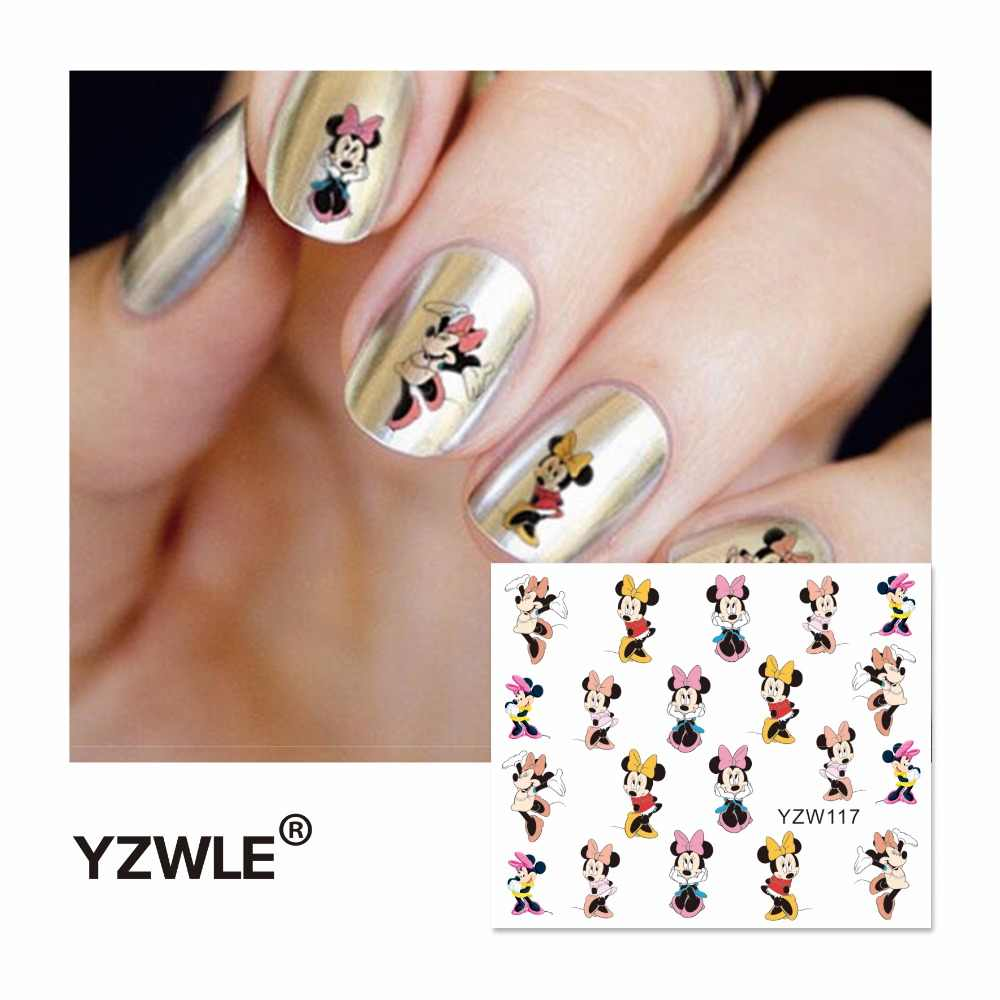 YZWLE Water Decal Nail Water Transfer Cartoon Designs Nail Sticker Stamping For Nail Art Stamp