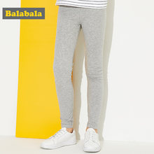 Balabala children trousers casual leggings for girls cotton pants for girls soft bottoms legging 2018 spring pants for sports(China)