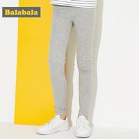 Balabala children trousers casual leggings for girls cotton pants for girls soft bottoms legging 2018 spring pants for sports