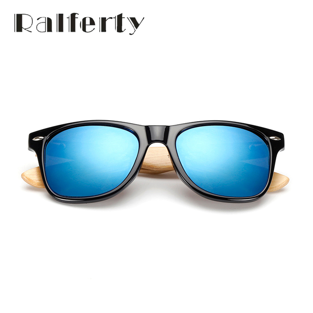 Ralferty Retro Wood Sunglasses Men Bamboo Sunglass Women Brand Design Sport Goggles Gold Mirror Sun Glasses Shades lunette oculo 1