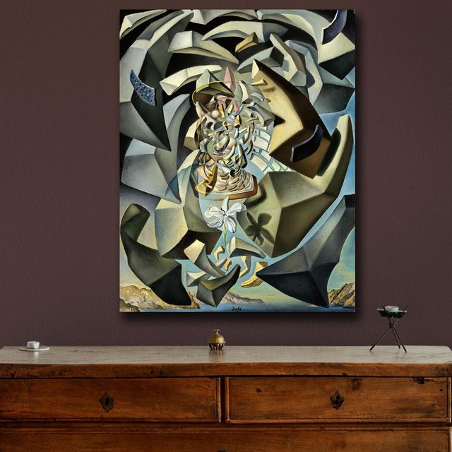 Wall art Salvador Dali 1954 Microphysical Madonna Painting Living Room Home Decoration Oil Painting on Canvas Wall Painting 3