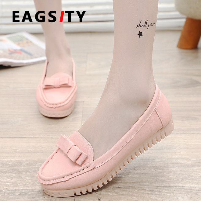 year spring flat mother shoes soft sole comfortable single work dancing women loafer