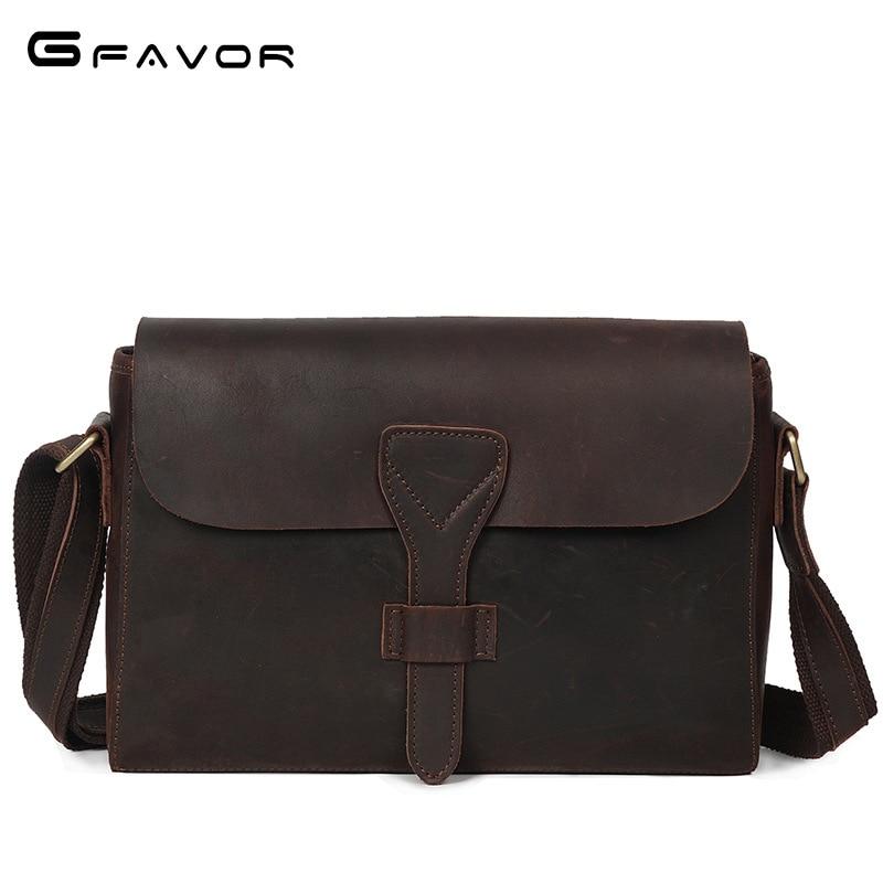 Men Vintage laptop canvas leather shoulder bag Thick cow leather messenger bag briefcase crazy horse leather crossbody bag