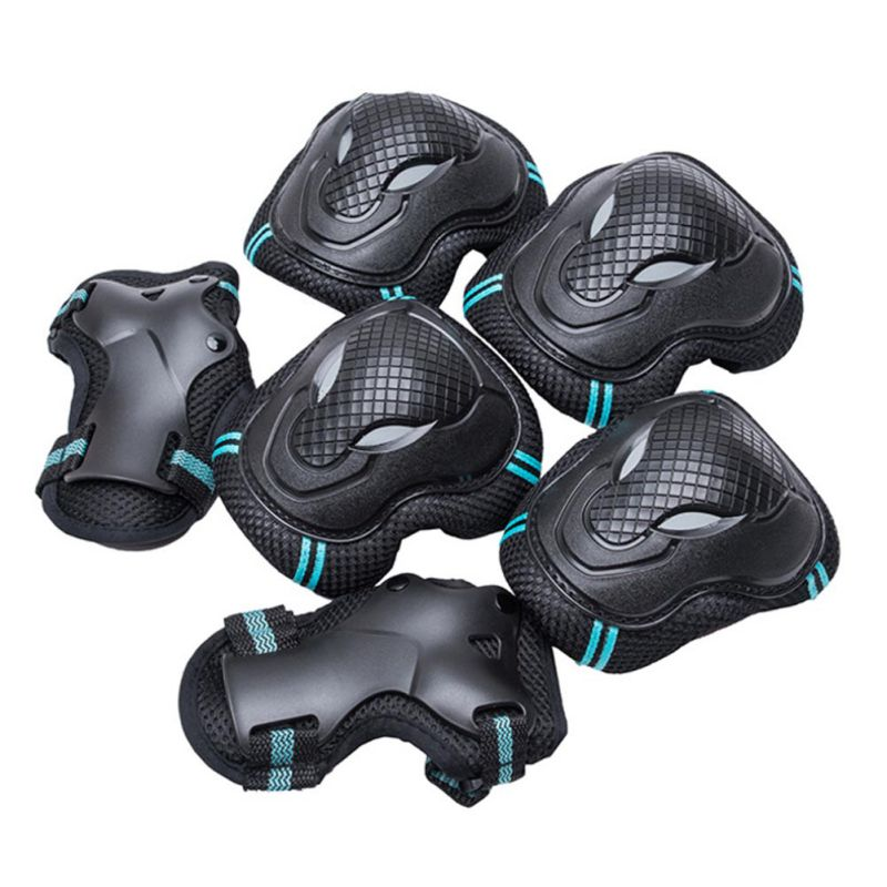 6 Pieces/set Kid Sportsroller Skating Skateboard Skiing Elbow Knee Pads Protective Men Women Children Wrist Guard Gear Pad Gear Yoga Fitness & Body Building