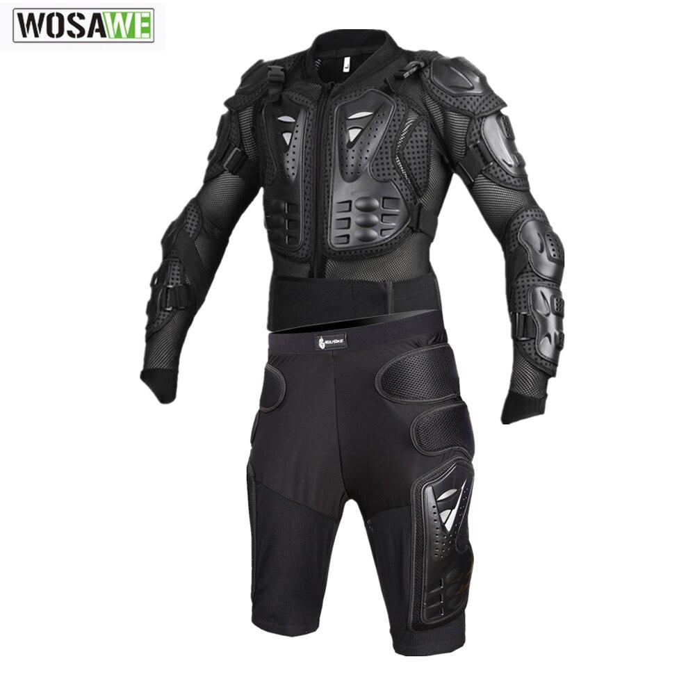Защитный комплект для мотокросса WOSAWE, мотоциклетная куртка, штаны для мотокросса