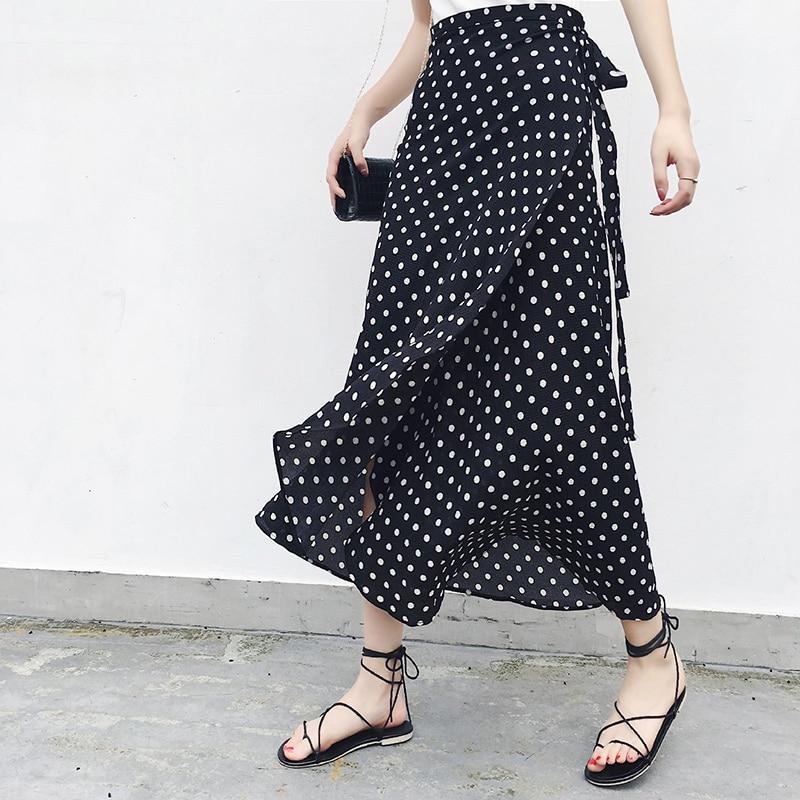 Женская асимметричная шифоновая юбка макси в богемном стиле 1