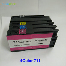 4 pcs Compatible inkjet Ink Cartridge for HP 711 XL Designjet T120 24/T120 610/T520 24/T520 36/T520 610
