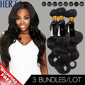 Cambodian Body Wave Human Hair Weave,3 Bundle Brazilian Virgin Hair Weft,7A Unprocessed Human Hair Bundle,Peerless Hair Products